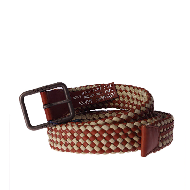 armani (阿玛尼)双色编绳男士经典款腰带