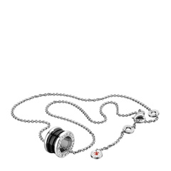 Bvlgari/宝格丽 明星同款慈善款纯银陶瓷项链/吊坠 CL856977