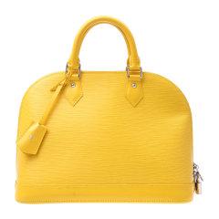 Louis Vuitton(路易威登) 黄色水木纹alma 小号手提包