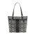 COACH/蔻驰 新品 URE系列 女士经典时尚单肩包 手提包 帆布黑灰色28504-SBWBKSIGNAT