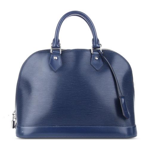 蓝色水木纹手提包