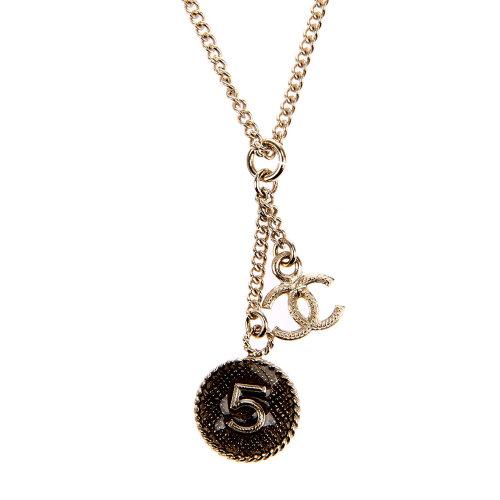 chanel(香奈儿) 浅金圆形数字5项链