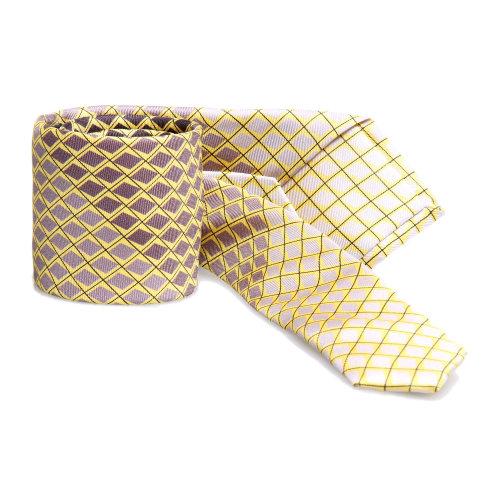 prada(普拉达)黄色菱形格纹领带
