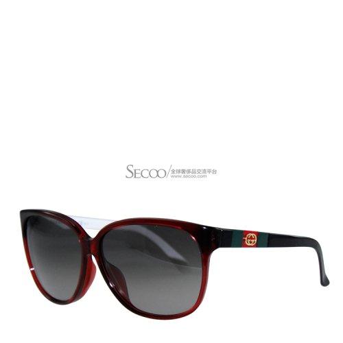 眼镜】gucci古驰花红色边框墨镜3551