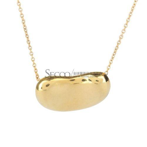 Tiffany Co 蒂芙尼18k黄金大豆豆项链