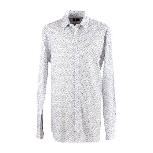 fendi(芬迪)白底灰色花纹衬衫