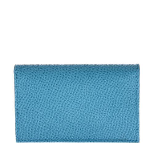 prada 普拉达浅蓝色皮质名片夹