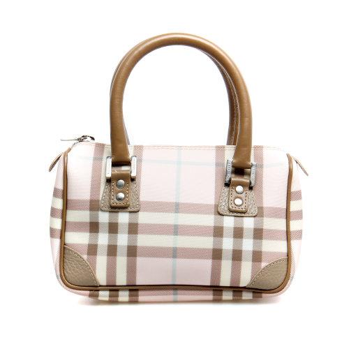 博柏利】burberry(博柏利)粉色条纹小手包
