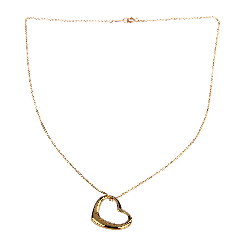 tiffany&co.(蒂芙尼)心形吊坠18k金项链-tiffany co项链