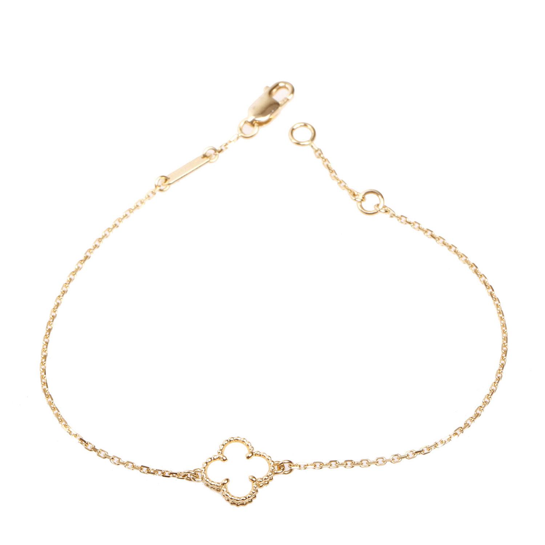arpels(梵克雅宝)白色四叶草750黄金手链