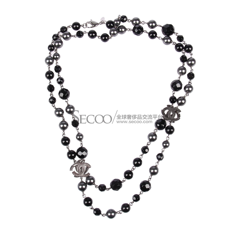 黑/灰色珠子项链【正品