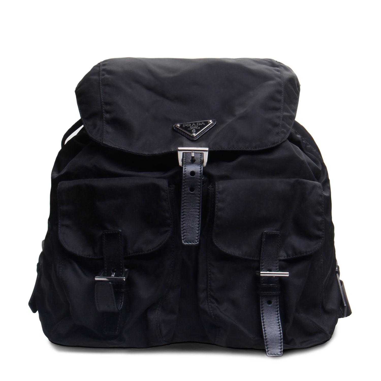 prada(普拉达)#黑色尼龙双肩背包【正品 价格 图片】图片