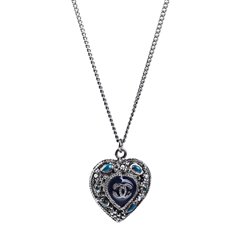 chanel(香奈儿)心形复古项链
