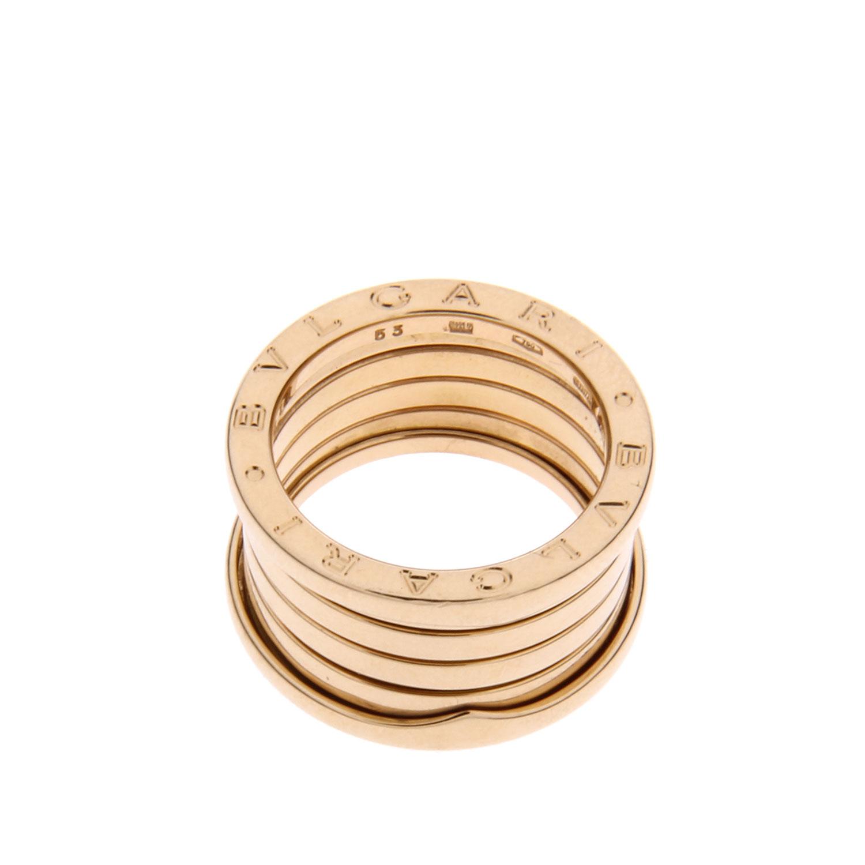 宝格丽弹簧戒指价格_Bvlgari(宝格丽) 黄金五环弹簧戒指 53#【正品 价格 图片】寺库