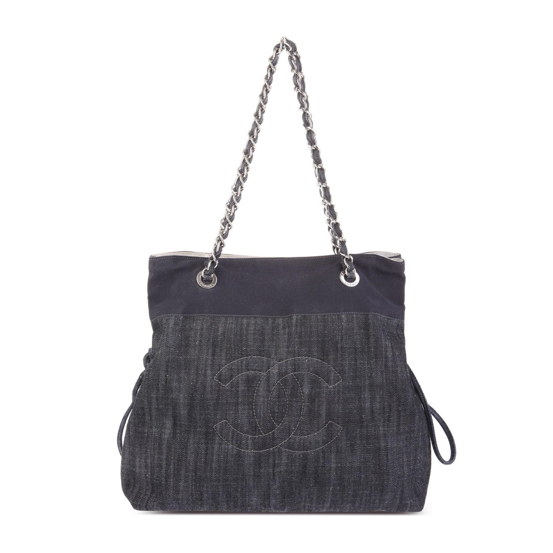 chanel(香奈儿) 黑灰色帆布单肩包