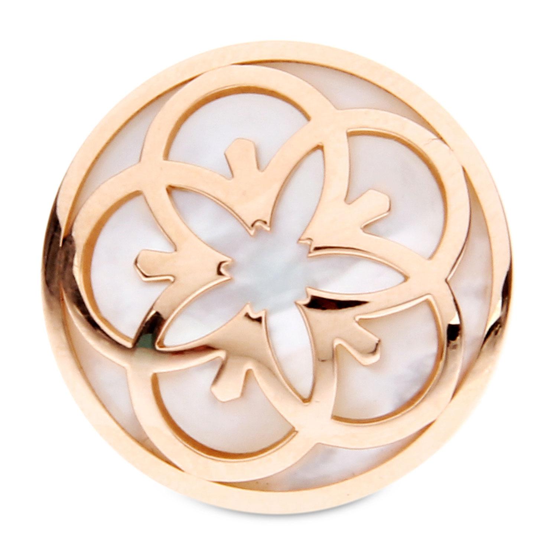 750玫瑰金贝母花型戒指