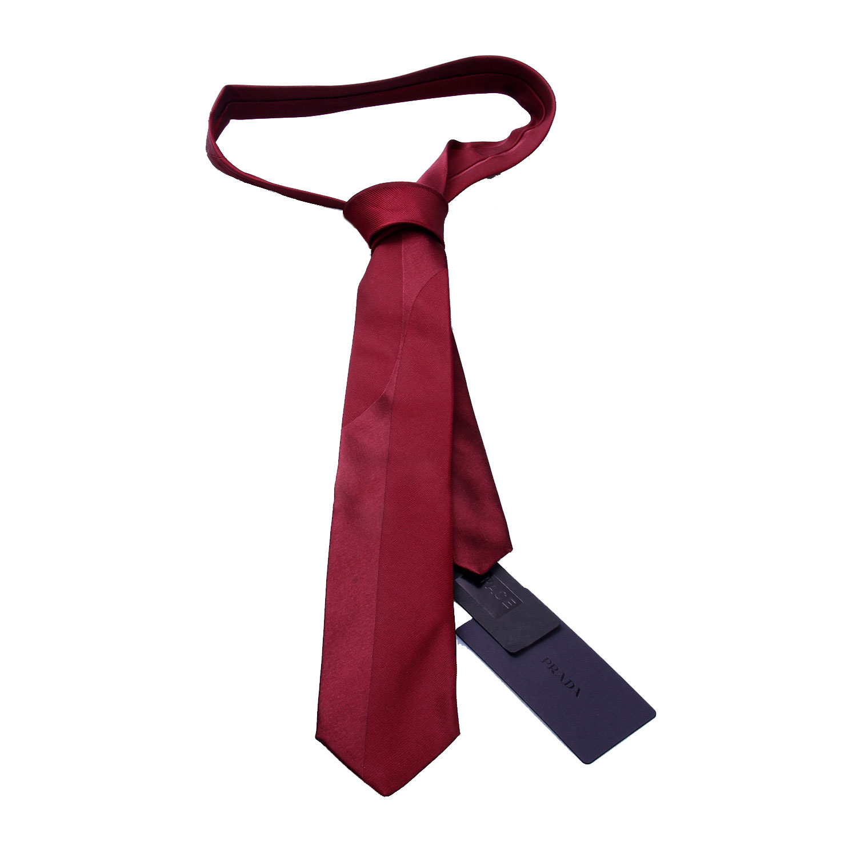 prada(普拉达)酒红色领带