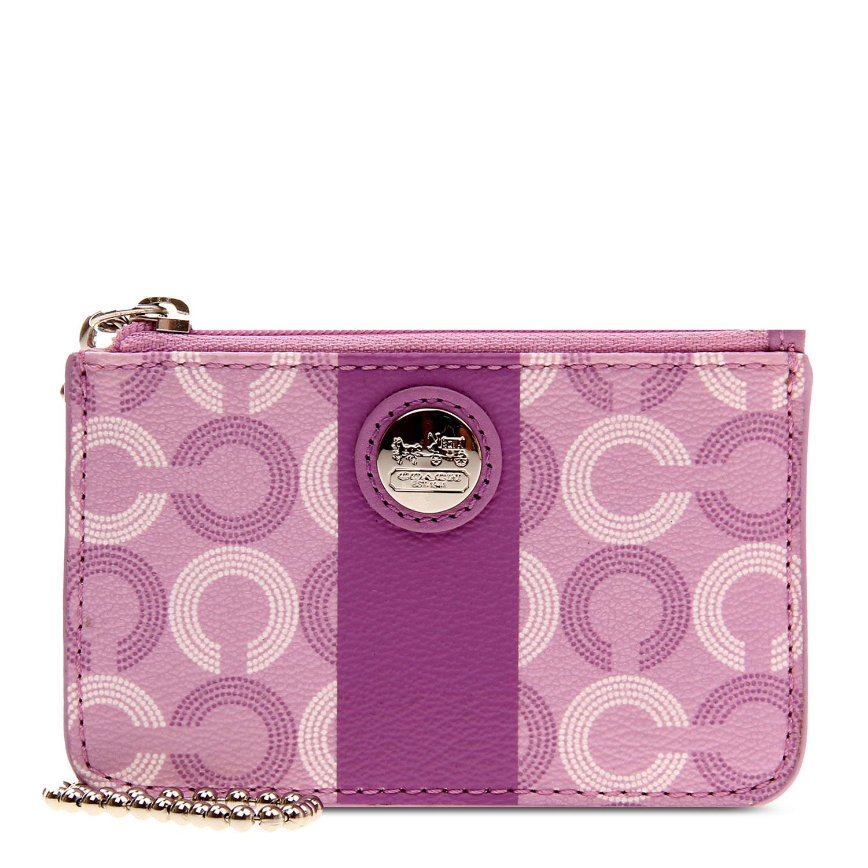 浅紫色皮质零钱包