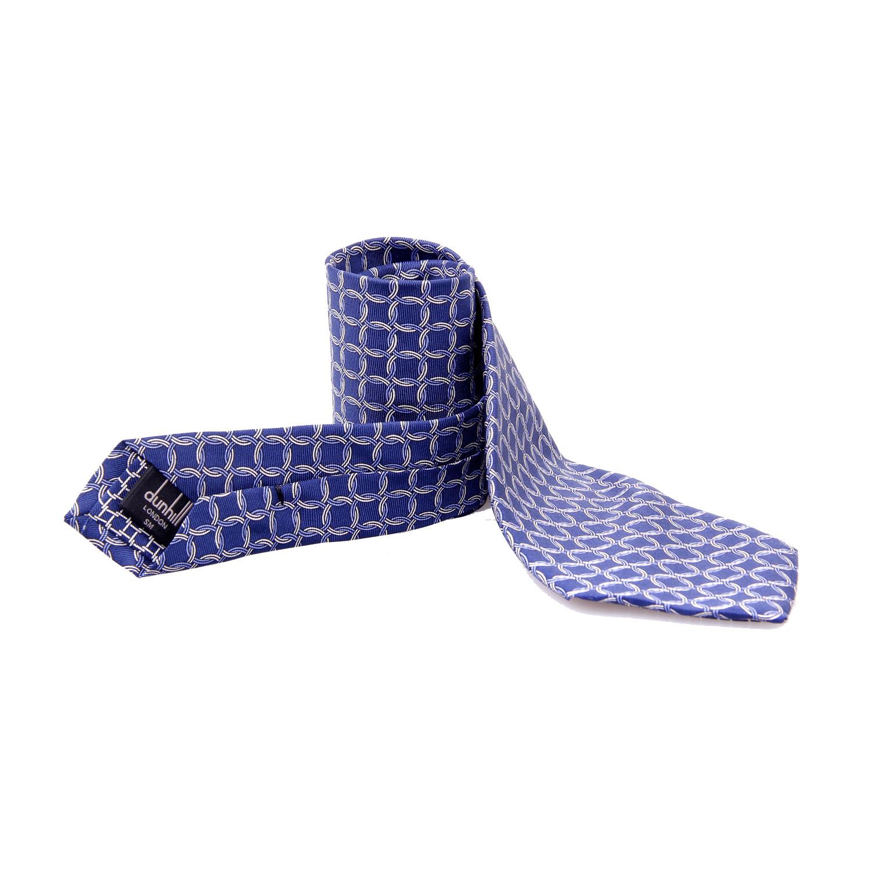 蓝色圆环图案领带