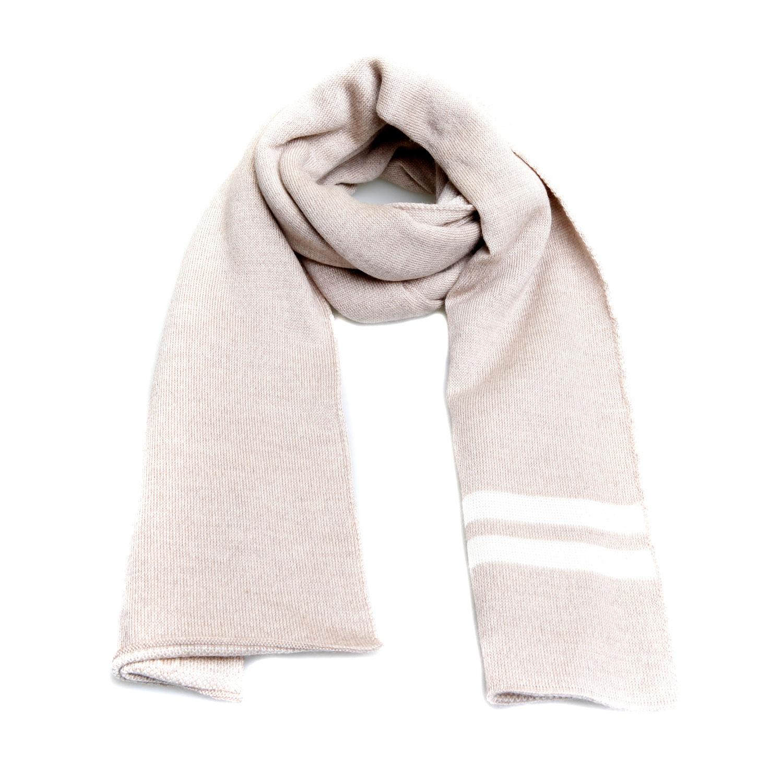 gucci(古驰)米色logo羊毛围巾