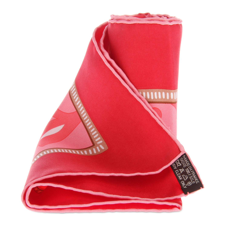 hermes(爱马仕) 属相蛇图案红边丝巾45