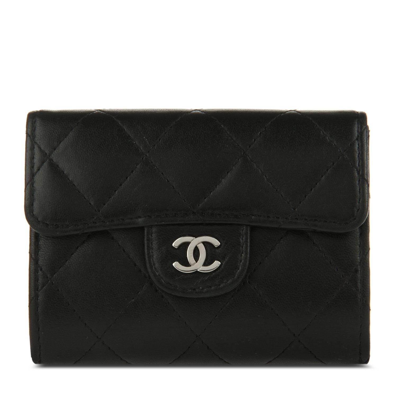 chanel(香奈儿) #黑色皮质零钱包