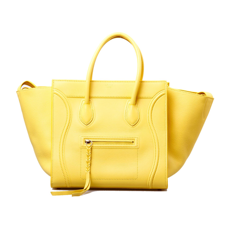 celine(赛琳)柠檬黄蝙蝠手提包