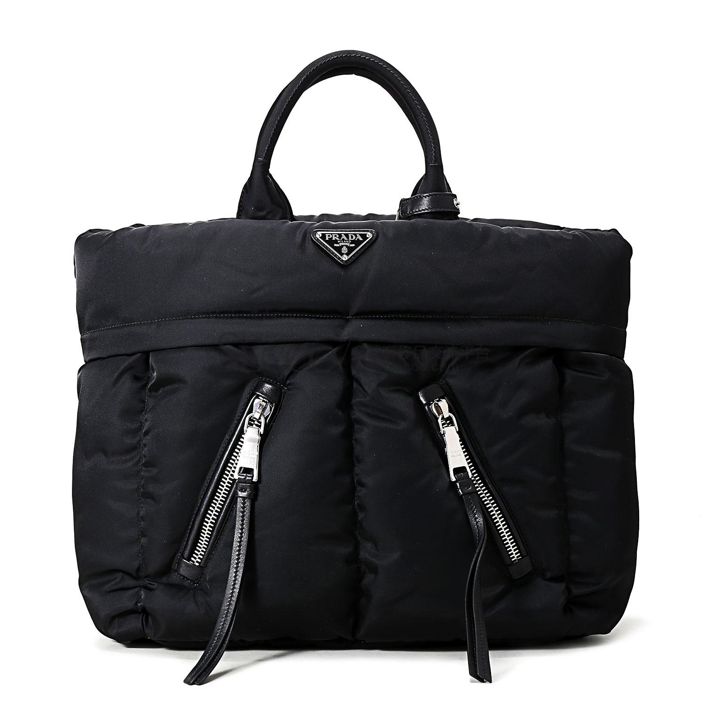 prada(普拉达) 黑色尼龙手提包