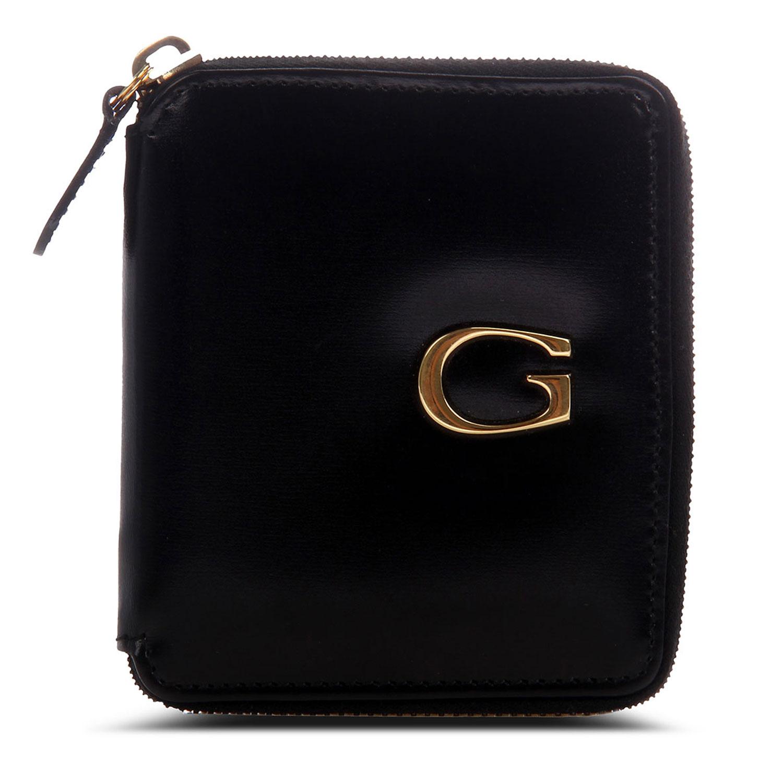 gucci(古驰)黑色皮质拉链零钱包