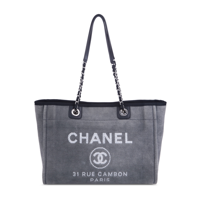 chanel(香奈儿) 灰色帆布单肩包