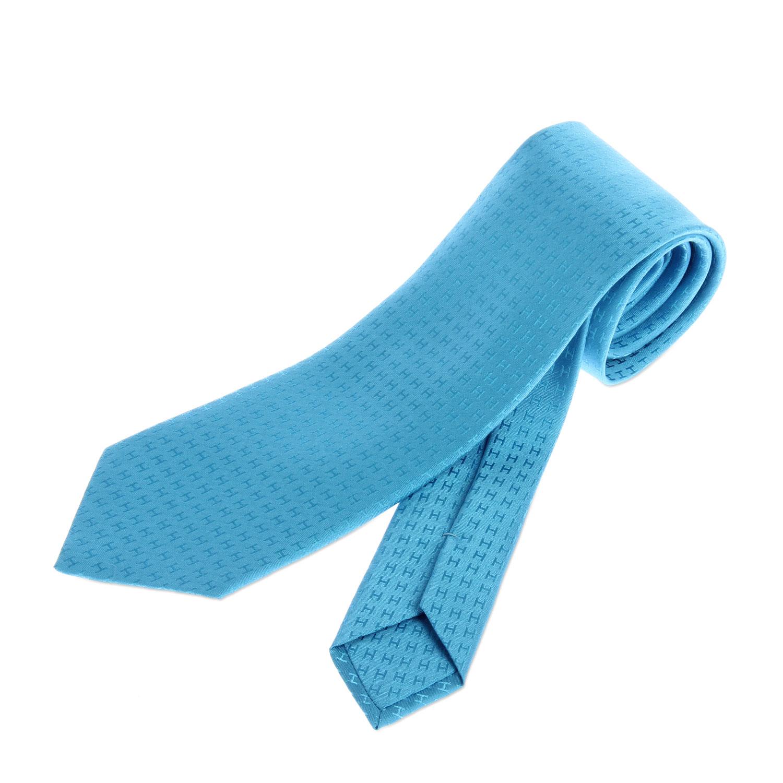 浅蓝色系h图案领带