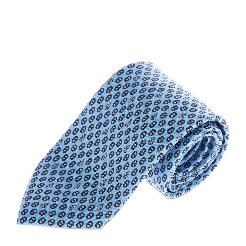 浅蓝色系灰色椭圆形图案领带
