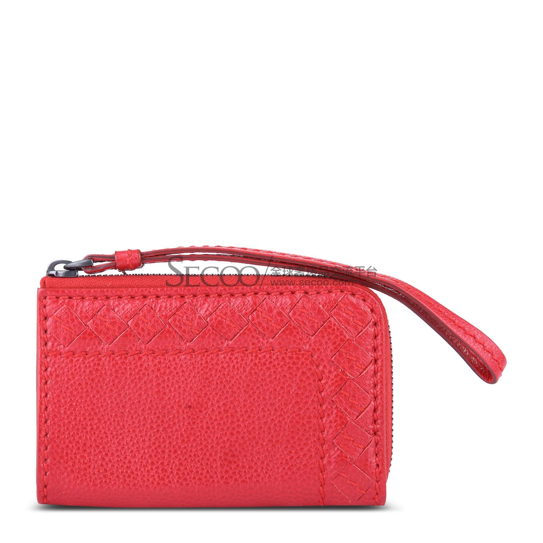 红色皮质零钱包