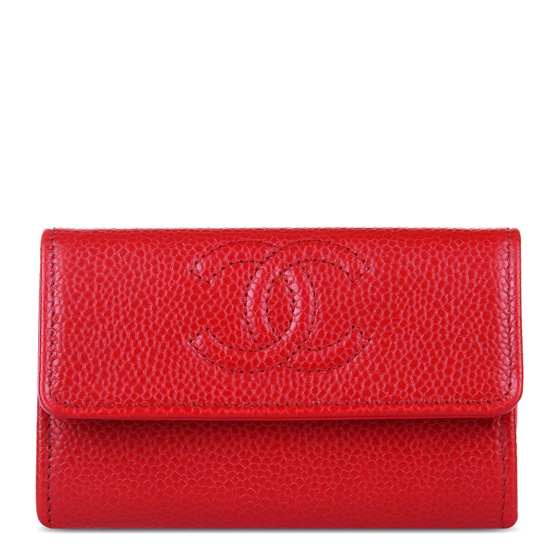 #红色皮质零钱包