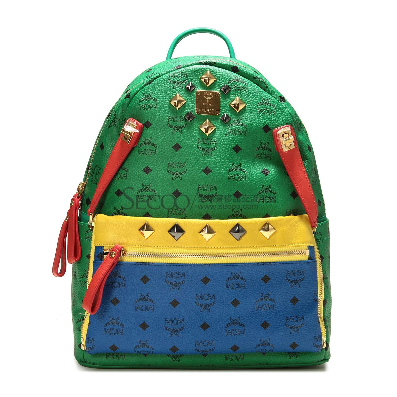 蓝绿色包包搭配