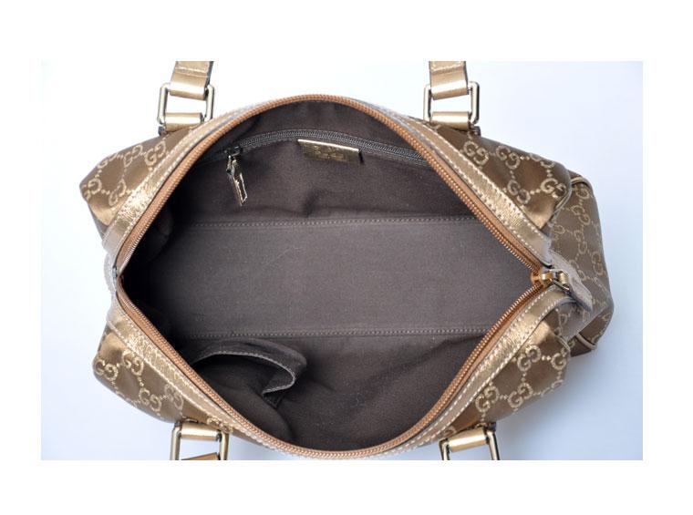 gucci(古琦)女士棕色手提包