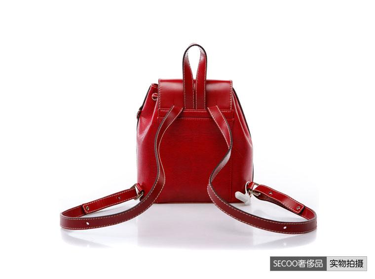 女式红色双肩背包