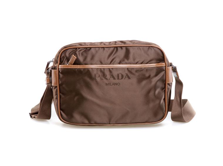 【prada 普拉达】prada(普拉达)女式棕色尼龙斜挎包