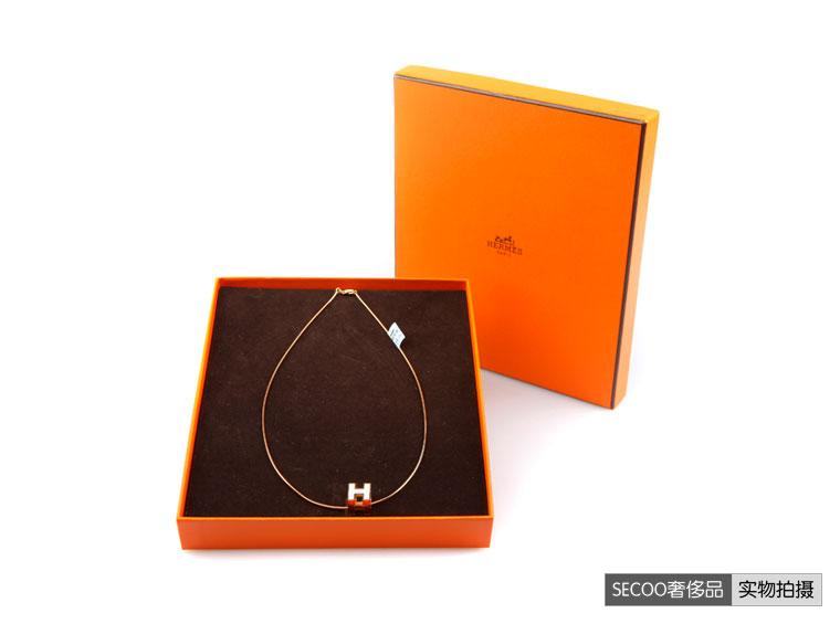 癹n���dzhmy�d�.#yo_hermes(爱马仕)白色h金色链项链 hmy