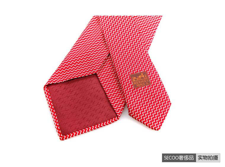 hermes(爱马仕)红色男士领带