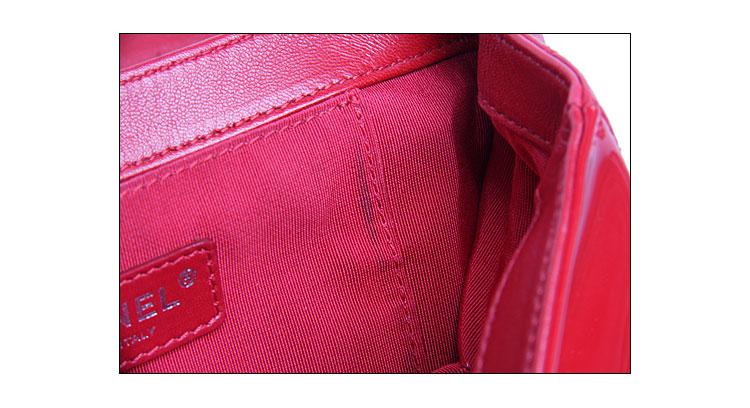 香奈儿】chanel(香奈儿)女士红色漆皮斜挎包