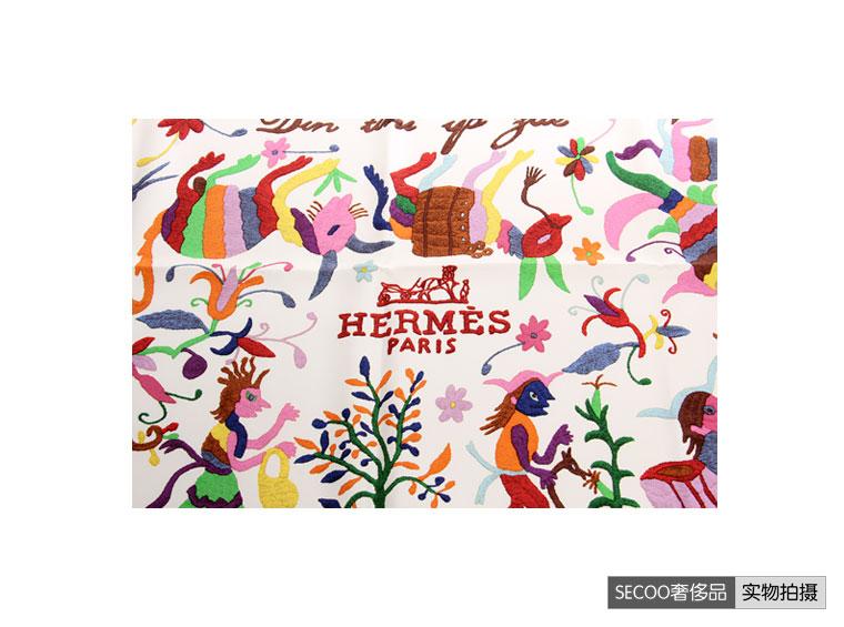 hermes(爱马仕)动物图案丝巾 wy