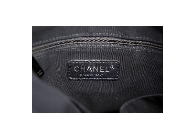 chanel(香奈儿)#深灰色复古皮质女士单肩包
