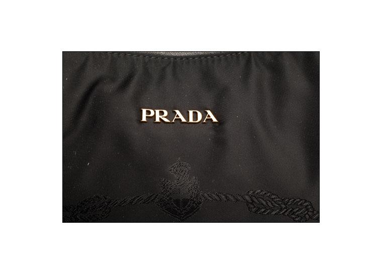PRADA 普拉达 黑色帆布女式手提包 -PRADA 黑色帆布女式手提包