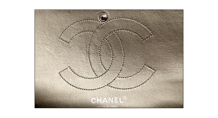 chanel(香奈儿)女士香槟色皮质单肩包