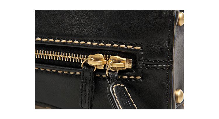 香奈儿】chanel女士黑色皮质手提包